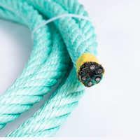 多股夹钢丝芯外包PP扁丝渔业捕捞用复合绳欢迎订购