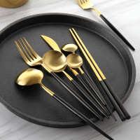 西餐餐具全套刀叉勺三件套高档家用欧式可爱礼盒装牛排刀叉套装