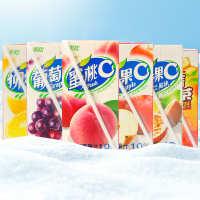 台湾进口黑松百香果C综合水果汁饮料300ml纸盒装大麦红茶批发