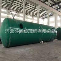 玻璃钢化粪池家用成品隔油池1-100立方一体化污水处理消防储水罐