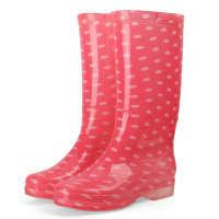 2020时尚高筒防水雨鞋女士防滑耐磨PVC厨房工作水靴厂家直销批发