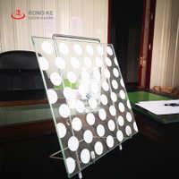 秦皇岛荣科工厂生产供应优质彩色彩釉玻璃斑点彩釉玻璃加工定做