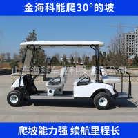 厂家直销电动四轮高尔夫球车高尔夫球场专用电动车白色四座观光车