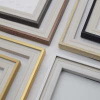 美式轻奢金属质感装饰画线条PS发泡镜框饰条电表箱卡槽型画框框条