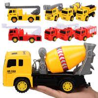 外贸惯性工程车套装大号五只装儿童手动工程吊车双惯性玩具车