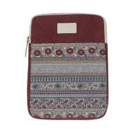 多功能商务Macbook笔记本电脑内胆包帆布14寸平板ipad包保护套红