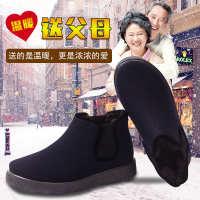 老北京棉鞋男雪地鞋冬季高帮加绒保暖男鞋防水加厚中老年爸爸棉靴