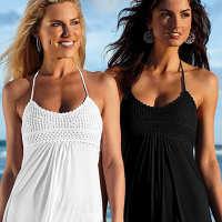 2020夏季沙滩吊带连衣裙海边度假吊带裙性感手勾贴花沙滩裙
