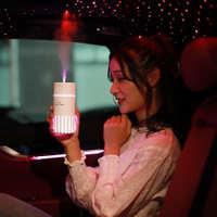 新款卡斯加湿器USB车载办公桌面家用静音喷雾补水仪可配夜灯风扇