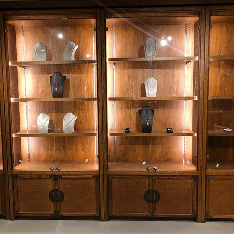 煜海 实木复合 展示柜展柜摆件珠宝