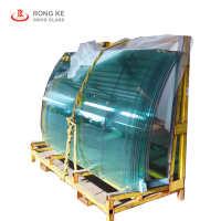 厂家优质专业生产定制6mm钢化热弯镀膜玻璃门窗工程玻璃定制厂家