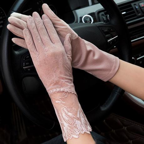 女 服饰手套 夏防蕾丝紫外线触屏