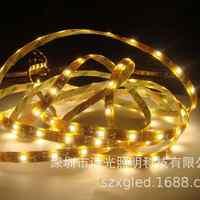 厂家批发5合1LED灯带SMD5050贴片硅胶防水双灯条带灯60灯
