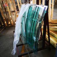 厂家优质专业生产定制8mm钢化热弯镀膜玻璃门窗工程玻璃定制厂家