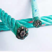 渔业养殖绳夹钢丝芯外包PP扁丝蓝色渔业复合绳厂家直销