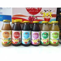 新疆特产升旗石榴汁白杏汁蟠桃汁黑加仑汁紫葡萄汁哈密瓜汁批发