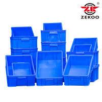 蓝色 PP 物流箱物料箱餐具配送箱