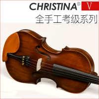 Christinav01仿古考级初学者儿童成人小提琴乐器