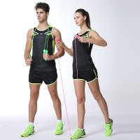 跑步服中小学生田径服套装男女定制情侣健身训练服儿童比赛服团购
