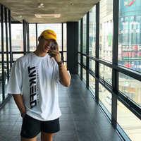 肌肉男兄弟春夏潮牌训练服纯棉弹力健身服健身房运动休闲港风T恤
