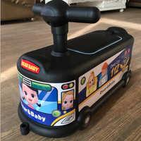 高档巴士卡通儿童扭扭车1-3岁宝宝溜溜车万向静音轮滑行车赠品车