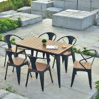 可定制 欧式 桌椅防腐防塑木锈木