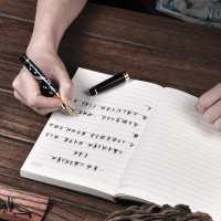 钢笔套装礼盒礼物定制免费刻字生日送礼弯头练字男士钢笔