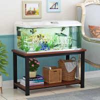 鱼缸架子底座底柜金属欧式水族箱客厅家用定制承重简易多层置物架