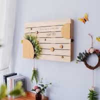 创意实木电表箱遮挡北欧清新电闸箱控开箱装饰盒配电箱集线箱遮盖