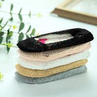 袜子女蕾丝女袜船袜女隐形绣花韩版春夏防滑2020新款爆款平板包装