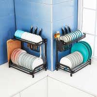 碗架沥水架不锈钢家用抽屉式凉沥晾放碗筷碗碟收纳架子厨房置物架
