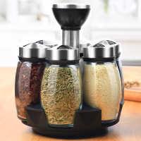 调料盒调料组合套装厨房调味品油盐罐子家用组合装佐料瓶酱旋转式
