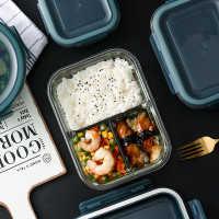 微波炉饭盒专用学生加热玻璃上班族1个盒分格水果盒子成人分隔碗