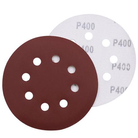 5寸植绒砂纸片气动打磨机自粘圆形沙纸角磨机木工抛光圆盘磨片