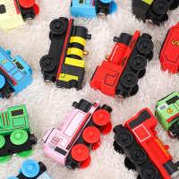 滑行小火车儿童木质小火车头玩具兼容木制火车轨道brio宜家米兔