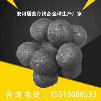 安阳晟鑫丹供应炼钢用7075碳球碳合金球现货批发可含量定制