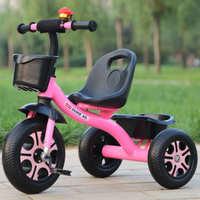大号儿童三轮车脚踏车童车1--3-5岁宝宝手推车自行车免充气小孩车
