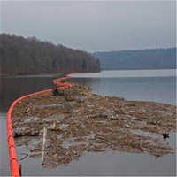 内河拦漂拦污浮排PE聚乙烯塑料管道浮筒