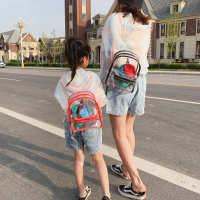 儿童透明双肩包女童迷你可爱沙滩包女孩个性时尚旅行小背包亲子包