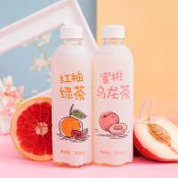 现货厂家直销秋林红柚绿茶/蜜桃乌龙茶饮料饮品整箱12瓶一件代发