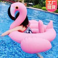 义乌水上玩具工厂火烈鸟儿童游泳座圈卡通游泳圈PVC充气浮圈批发