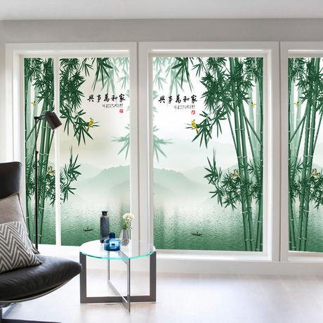 窗户玻璃贴纸透光不透明卫生间移门浴室客厅免胶静电磨砂玻璃贴膜