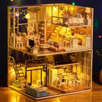 高档儿童节日礼物diy小屋创意手工拼装模型房送同学生日情人摆件