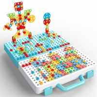 儿童拧螺丝玩具电钻玩具工具箱拆卸拼装男孩4益智早教螺丝钉玩具