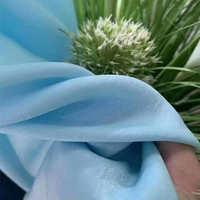 简约现代天丝绒窗纱透光不透人纯色窗帘纱客厅卧室窗帘成品定制