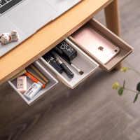 创意桌下收纳盒学生课桌隐藏式文具盒办公室笔筒桌下文具收纳格子