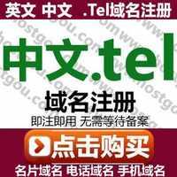 .中文.tel域名注册中文名片电话名域米手机网站网址购买申请