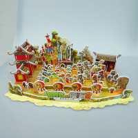 植物玩具僵尸纸质3d立体拼图功夫世界益智暑期玩具拼插板漫画食物