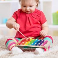 儿童八音手敲琴1-2-3周岁宝宝早教益智音乐器玩具8个月婴幼小木琴