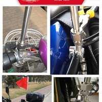 1.2米车把不锈钢自行车收缩旗杆山地电动伸缩越野摩旅摩托车旗杆